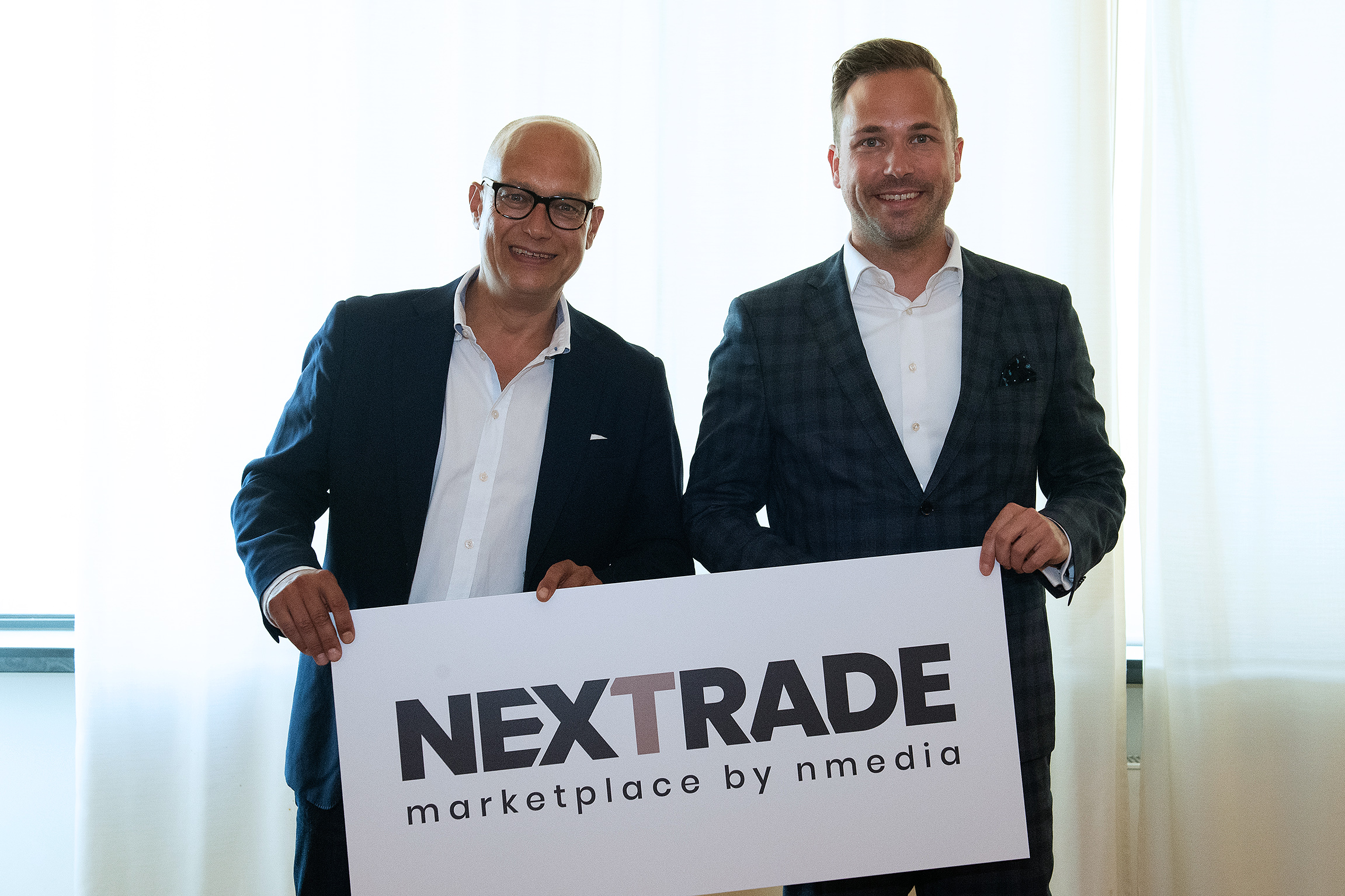 Nicolaus Gedat, CEO nmedia, Philipp Ferger, Group Show Director Messe Frankfurt, CEO nmedia